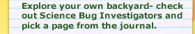 Explore your own backyard- check out Science Bug Investigators and pick a page from the journal.